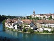 Río de Berna y de Aare Imagen de archivo libre de regalías