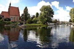 Río de Brda en Bydgoszcz Imagen de archivo libre de regalías