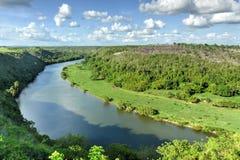 Río de Chavon, República Dominicana fotografía de archivo