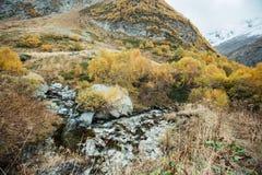 Río de Churchkhur en el otoño fotografía de archivo libre de regalías