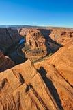 Río de Colorado de herradura de la curva Fotografía de archivo libre de regalías