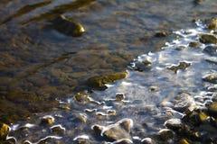 Río de congelación Fotos de archivo libres de regalías