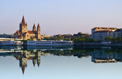 Río de Danubio Imagen de archivo libre de regalías