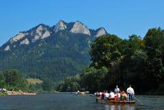Río de Dunajec Fotografía de archivo