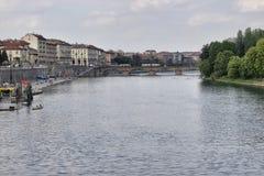 Río de Estura en Torino Foto de archivo libre de regalías