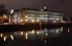 Río de Fontanka, St. Michaels Castle, St. Petersbur Fotografía de archivo