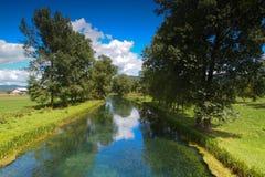 Río de Gacka en Croatia Imagenes de archivo