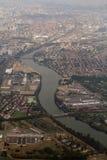 Río de Garona alrededor de Toulouse fotografía de archivo libre de regalías