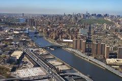 Río de Harlem y Bronx. fotos de archivo