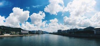 Río de Hong Kong Shatin Foto de archivo libre de regalías