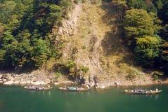 Río de Hozu, Kyoto, Japón Fotos de archivo libres de regalías