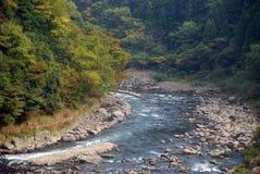 Río de Hozu, Kyoto, Japón Imagen de archivo libre de regalías