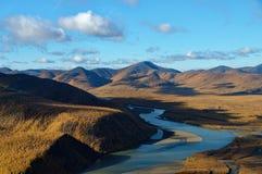 Río de Indigirka imagen de archivo libre de regalías