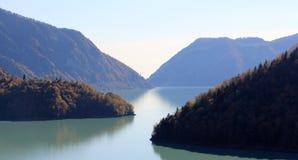 Río de Inguri en Georgia Fotos de archivo libres de regalías