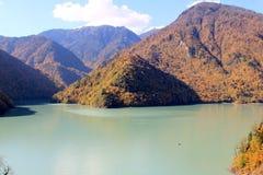 Río de Inguri en Georgia Foto de archivo libre de regalías