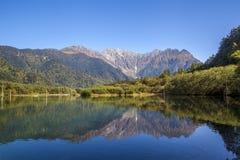 Río de Kamikochi fotos de archivo