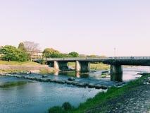 Río de Kamogawa Fotos de archivo