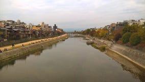 Río de Kamogawa, Kyoto Foto de archivo