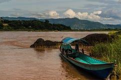 Río de Khong Fotografía de archivo