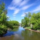 Río de Kishwaukee en Illinois Foto de archivo