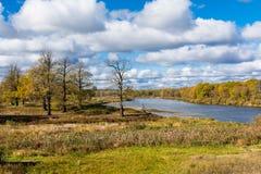 Río de Klyazma Rusia Foto de archivo