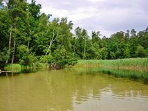 Río 9 de Krutynia Fotografía de archivo libre de regalías