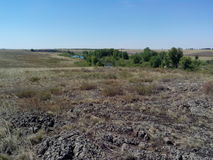 Río de Kumachka cerca de la orilla Fotografía de archivo
