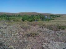 Río de Kumachka cerca de la orilla Fotografía de archivo libre de regalías
