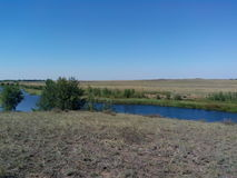 Río de Kumachka cerca de la orilla Imágenes de archivo libres de regalías