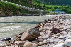 Río de Kunhar Imágenes de archivo libres de regalías