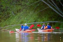 Río de la canoa Fotografía de archivo libre de regalías