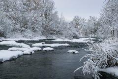 Río de la hada del invierno Fotografía de archivo