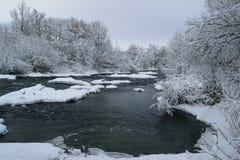 Río de la hada del invierno Fotos de archivo libres de regalías