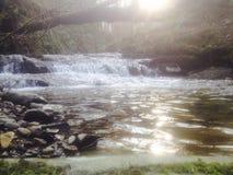 Río de la mañana Fotos de archivo libres de regalías