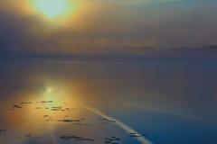 Río de la mañana en verano Imagenes de archivo