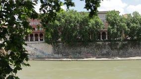 Río de la madera en Roma almacen de metraje de vídeo