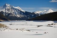 Río de la medicina con la rotura del hielo en el resorte Foto de archivo