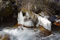 Río de la montaña Imagenes de archivo
