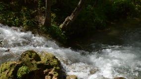 Río de la montaña con los rápidos almacen de video
