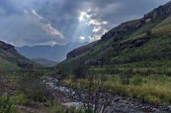 Río de la montaña en el castillo de Giants Imagen de archivo libre de regalías
