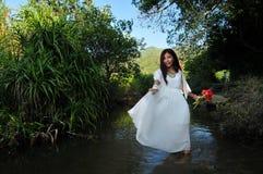 Río de la muchacha imagenes de archivo