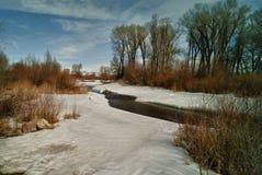 Río de la nieve Imágenes de archivo libres de regalías