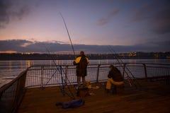 Río de la noche Fotografía de archivo