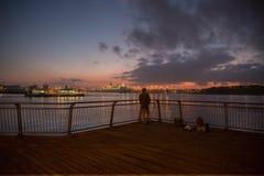 Río de la noche Fotos de archivo