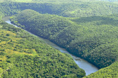 Río de la visión aérea fotografía de archivo libre de regalías