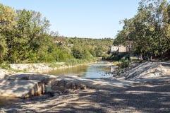Río de Lagrasse Imagenes de archivo