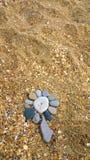 Río de las flores de las piedras foto de archivo libre de regalías