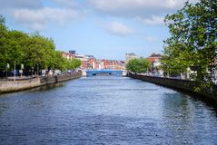 Río de Liffey, Dublín fotografía de archivo