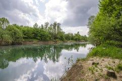 Río de Ljubljanica Foto de archivo libre de regalías