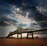 Río de Luisiana Horace Wilkinson Bridge Mississippi fotos de archivo libres de regalías